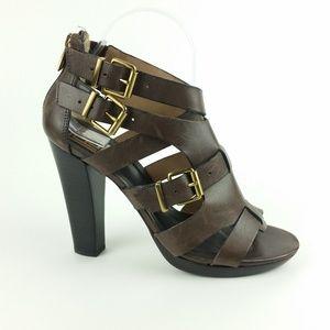 Pour La Victoire Brown Gladiator Heeled Sandal S16